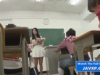 Eastern school with juvenile student,threatening japanese jav