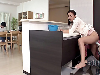 Milf Gets Pleasured While Her Son Is Studying - MilfsInJapan