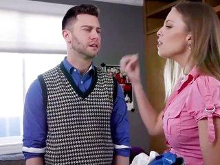Anal housewife trains lass bratty girlfriend