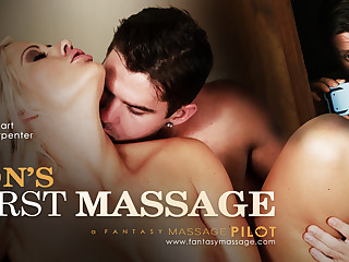 Holly Constituent helter-skelter Son's Roguish Massage, Instalment #01 - FantasyMassage