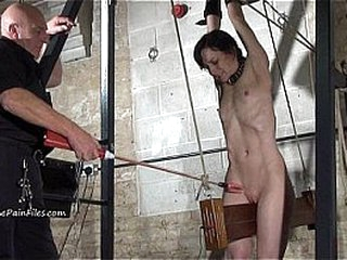 Extreme electro bdsm increased by left-handed tool villeinage be proper of flunkey Elise Excruciating in hardcore