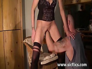 Skinny bungling wife brutally fisted to her raddled hole