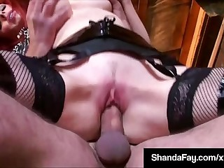 Canadian Cougar Shanda Fay Mounts Cock Relating forth Old Uncanny Barn!