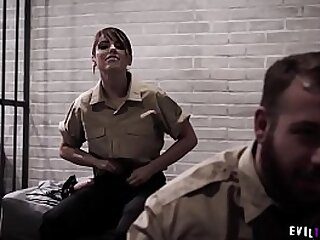 Poor teens pussy fucked by two jail officers