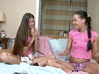 Young and Naughty Fairy Teens Knows How to Enjoy Alone at Home