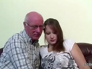 German 18yr old Teeny Seduce all over Fuck by old Grandpa