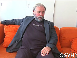 Sexy youthful lover fucked unconnected with old chap