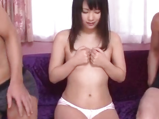 Tsuna Kimura, amazing scenes of raw troika sex