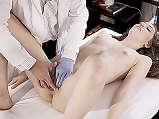 Naive 18yo is fucked by perv doctor in order to win the pill
