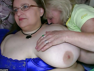 Chubby granny and old granny masturbating at bottom an obstacle bed hardcore