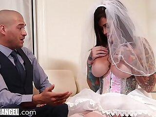 BurningAngel Number one Bride Gets Destroyed Hard By The Best Man During Her Wedding